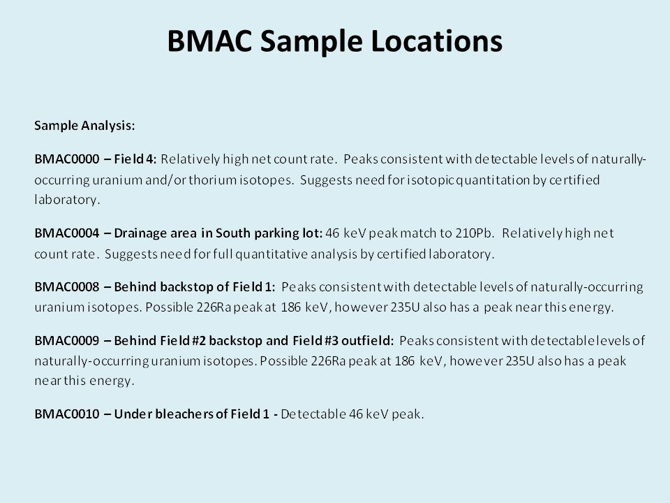 BMAC Sample Locations