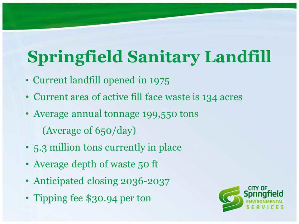 Landfill Operations Info Avg.