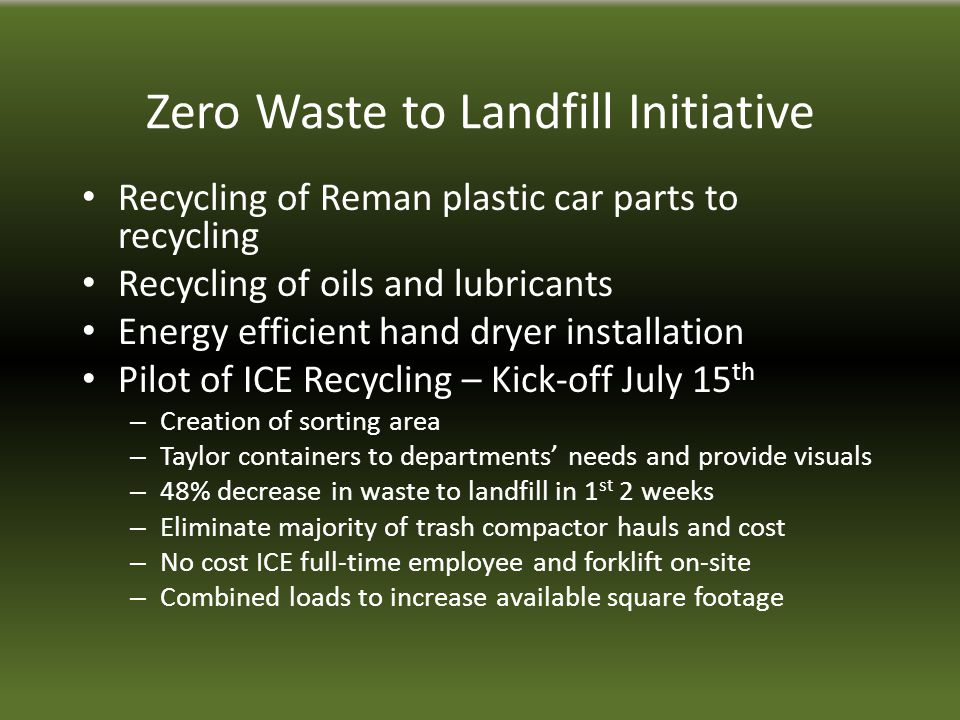 NON-RECYCLABLES - Food waste (anything with food in it or on it) - Chewing gum - Dirty air filters - Floor sweepings - Canteen food packaging (candy wrappers, chip bags) - Used gloves (latex or other) - Oily wipes - Tobacco products -Foam packing material