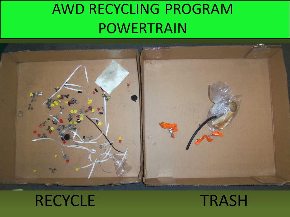 AWD RECYCLING PROGRAM POWERTRAIN RECYCLE TRASH