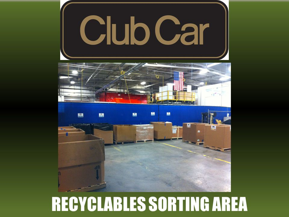 RECYCLABLES SORTING AREA