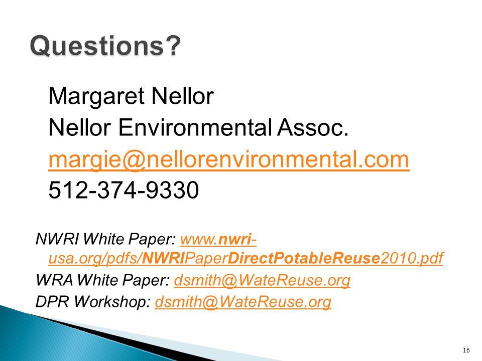 Margaret Nellor Nellor Environmental Assoc.