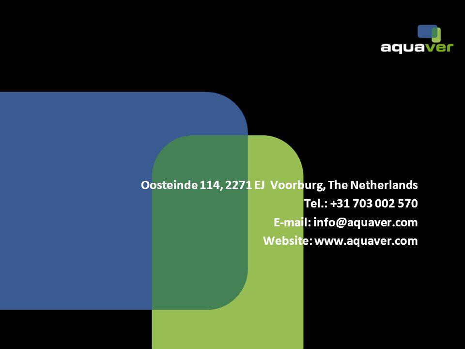 Oosteinde 114, 2271 EJ Voorburg, The Netherlands Tel.: +31 703 002 570 E-mail: info@aquaver.com Website: www.aquaver.com
