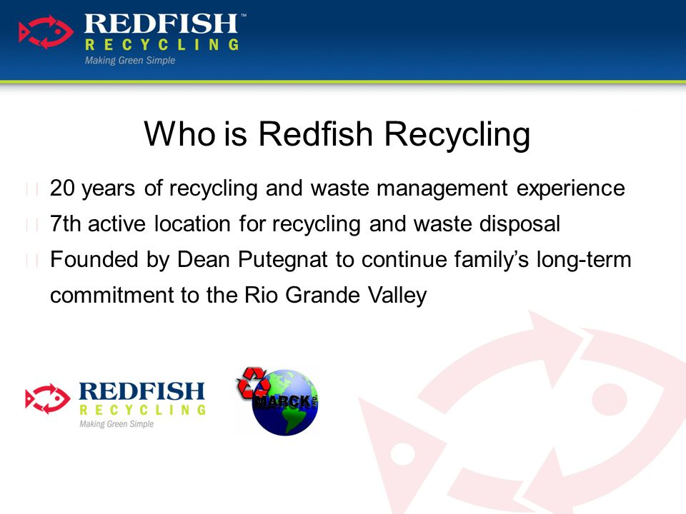 Why Recycle with Red Fish.