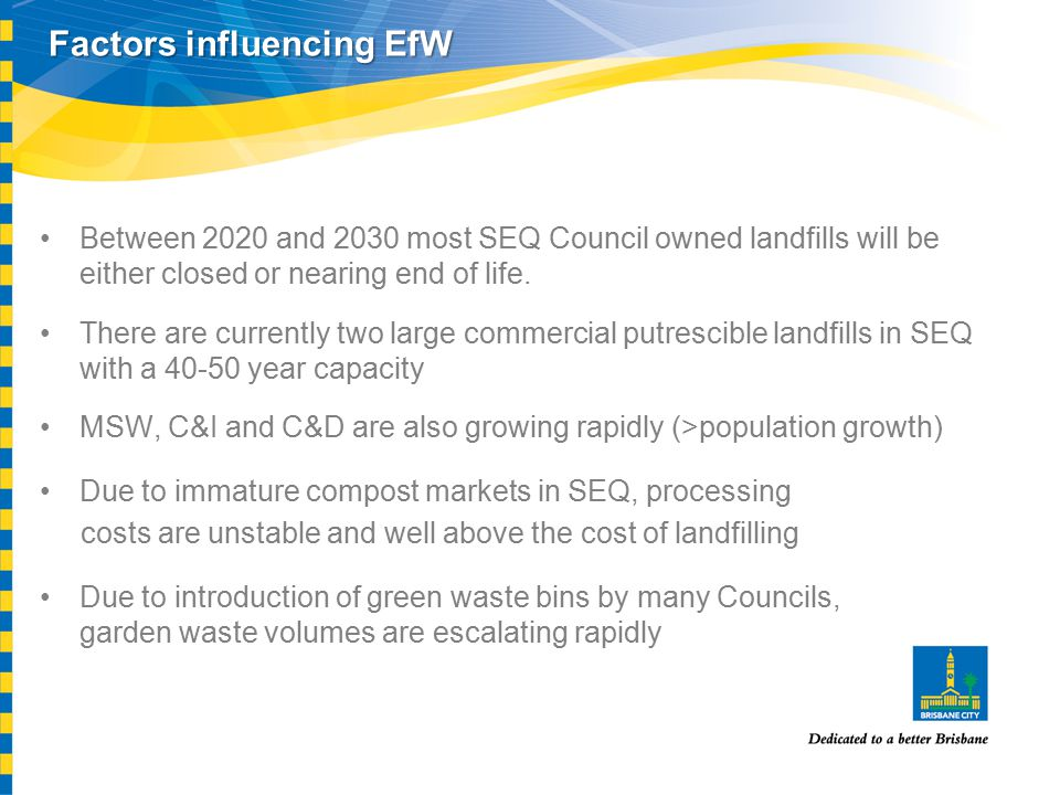 Between 2020 and 2030 most SEQ Council owned landfills will be either closed or nearing end of life.