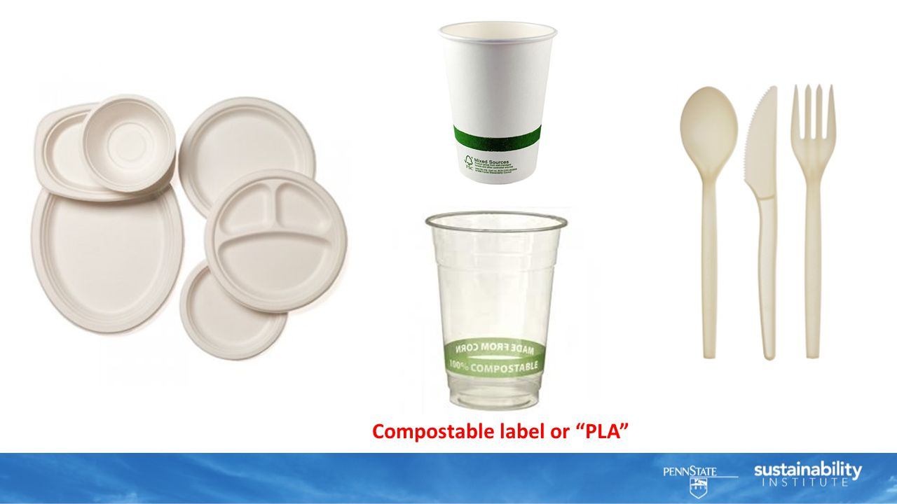 Compostable label or PLA