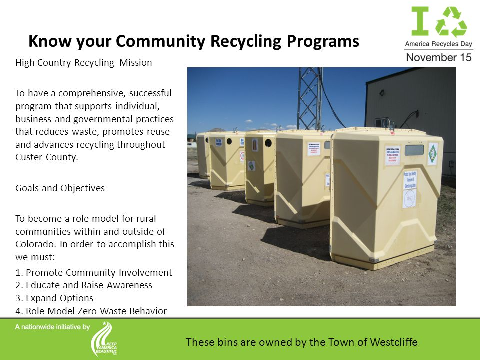 Recycling in Custer County What You Need to Know Support your local Non-Profit Organizations through the 2012 Spirit Campaign in Custer County