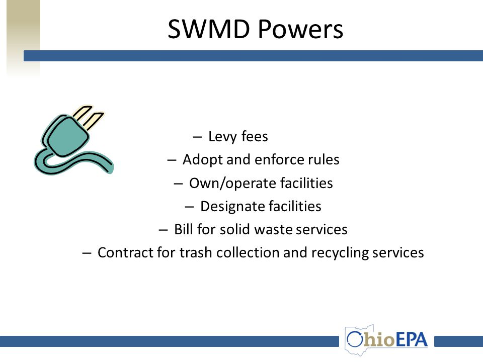 Solid Waste Management Districts Represented by: Board of Directors (i.e. county commissioners) Policy Committee