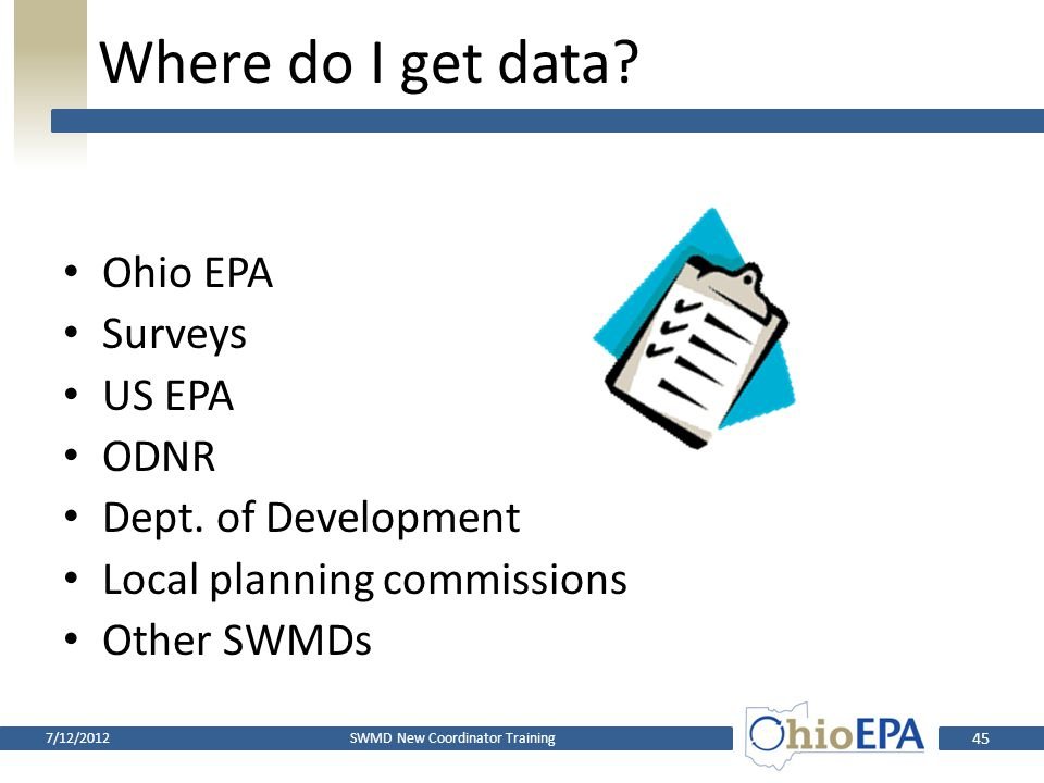 What's in a plan? Reference year data and information: – Population – Inventory of solid waste facilities used – Solid waste generation, disposal, and