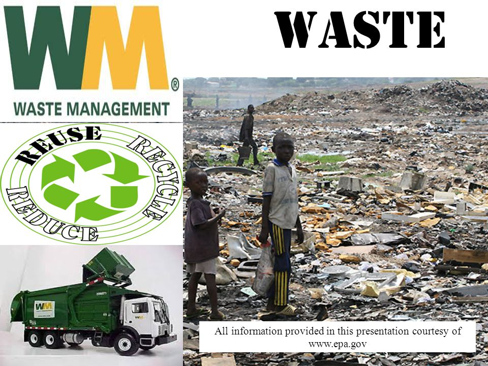 Waste All information provided in this presentation courtesy of www.epa.gov