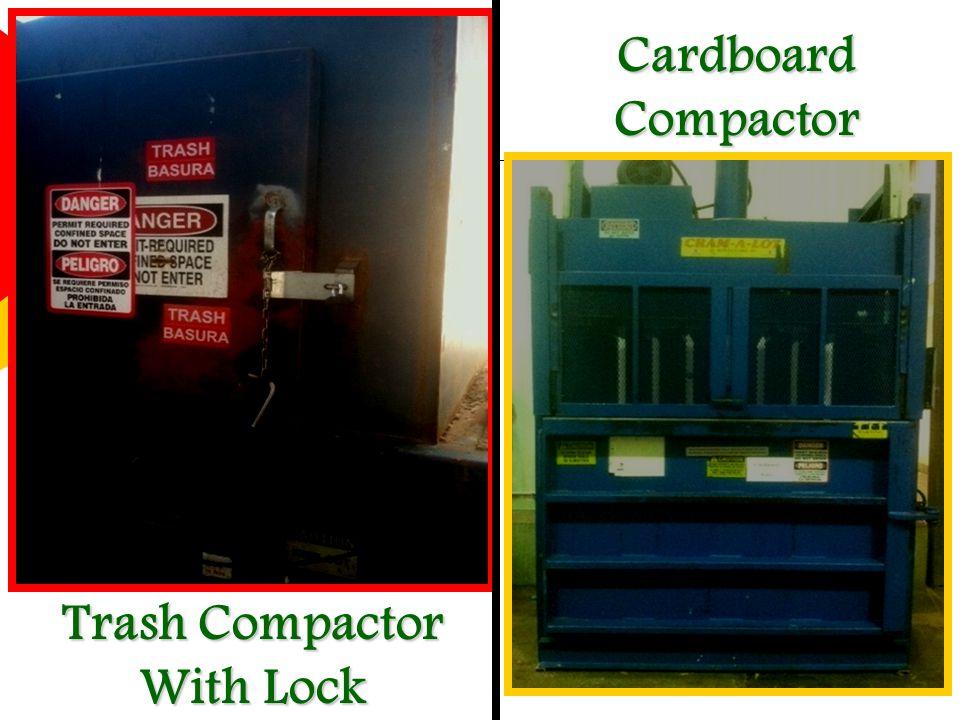 Cardboard Compactor Trash Compactor With Lock