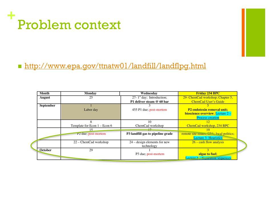 + Problem context http://www.epa.gov/ttnatw01/landfill/landflpg.html