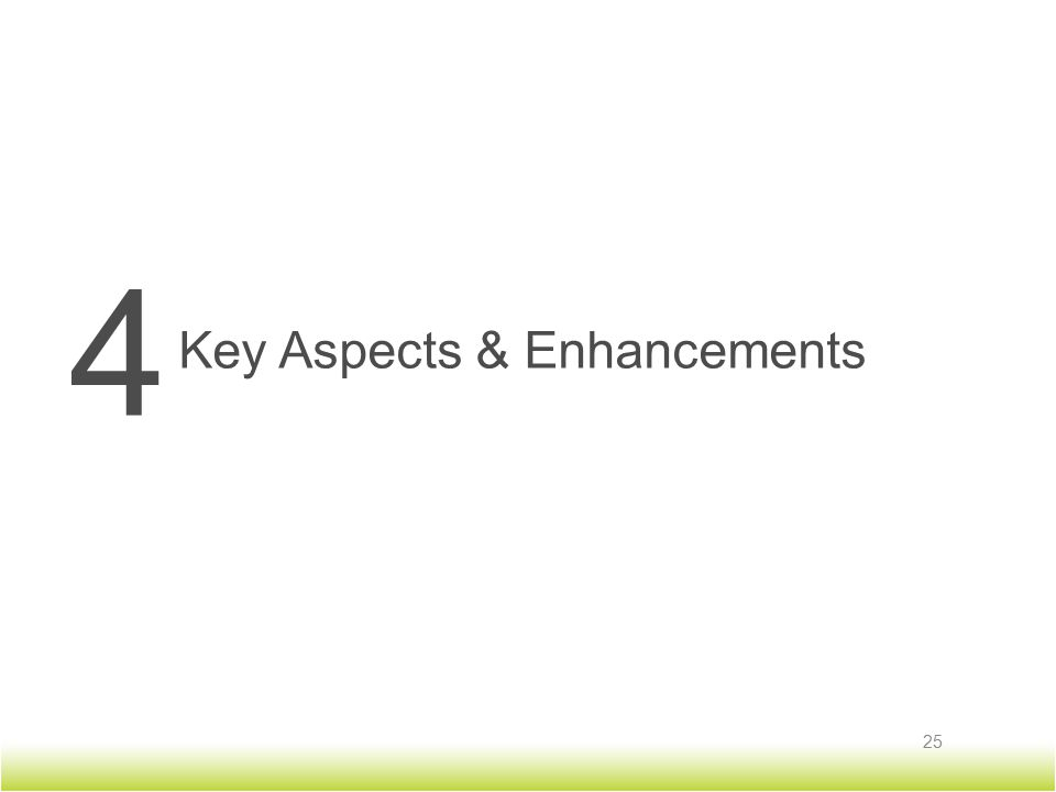 4 Key Aspects & Enhancements 25