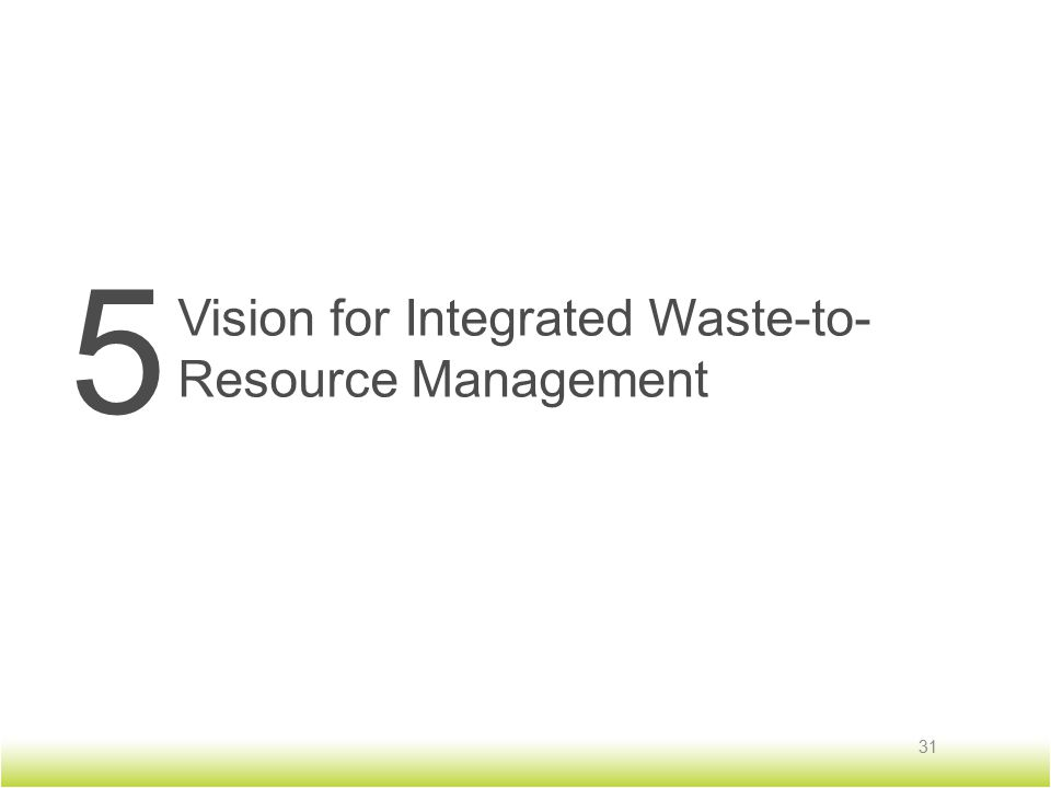 5 Vision for Integrated Waste-to- Resource Management 31
