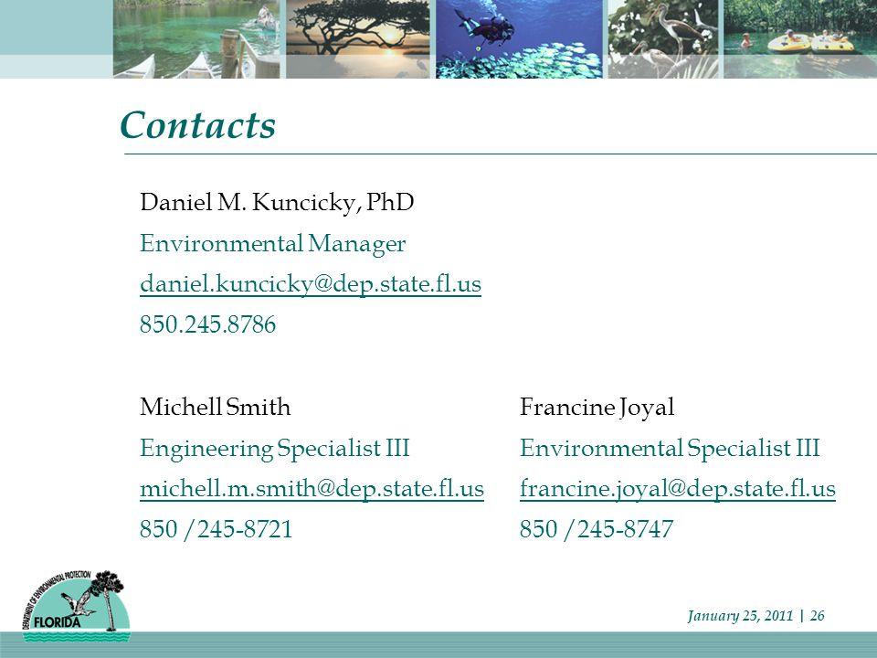 January 25, 2011 | 26 Contacts Daniel M.