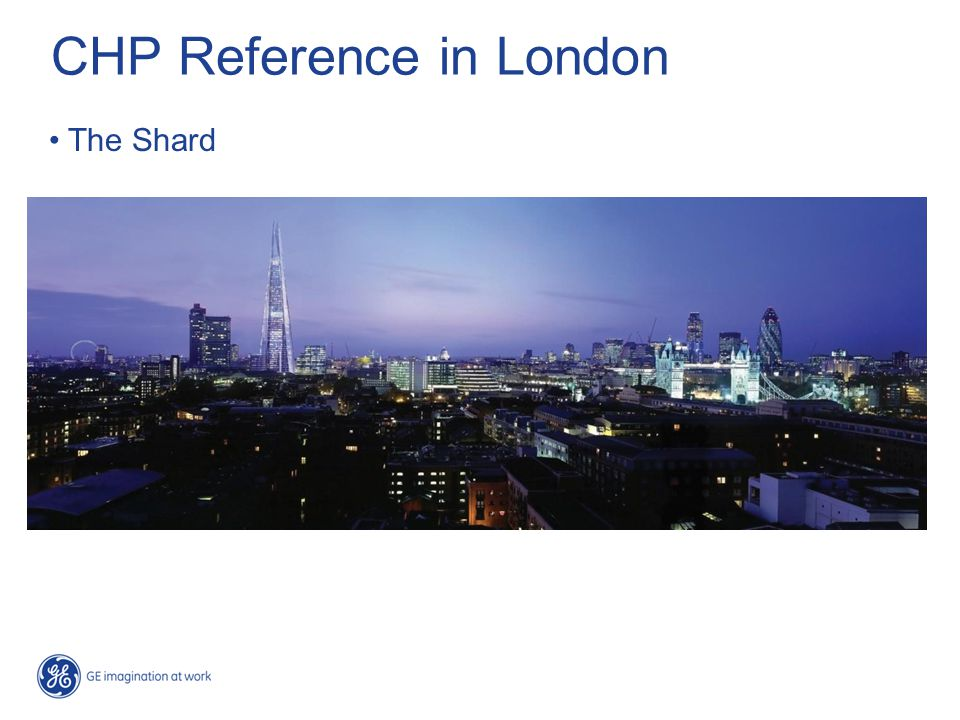 CHP Reference in London The Shard