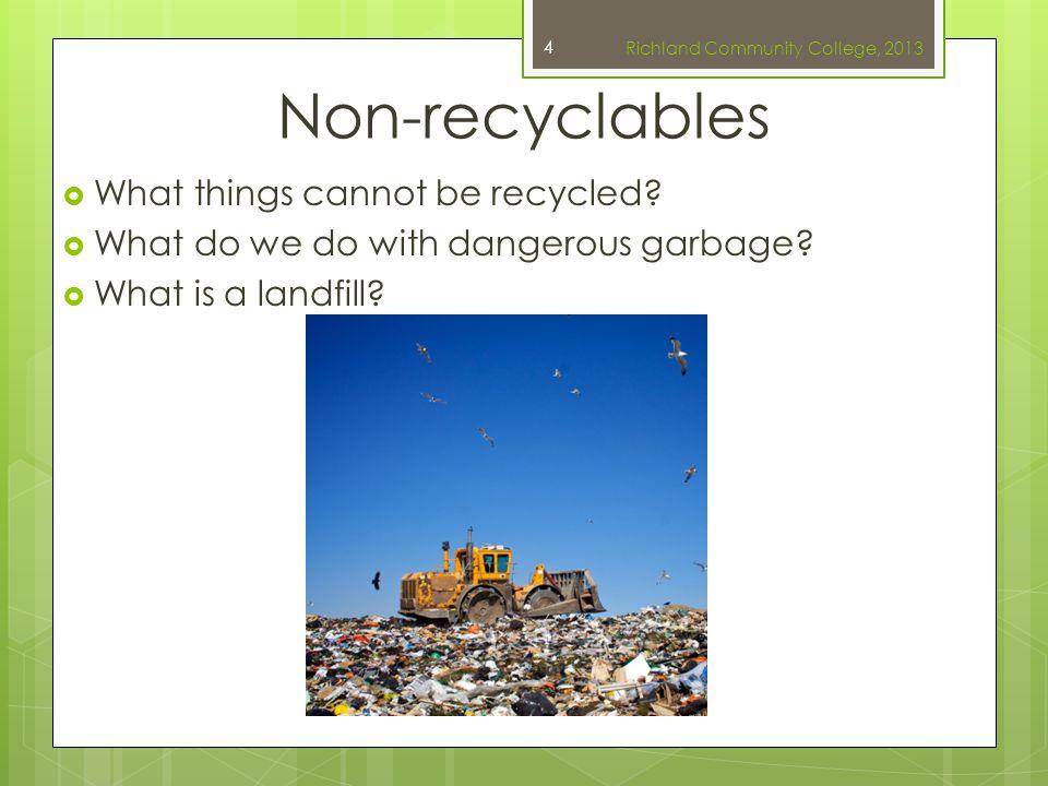 References  Slide 1: Richland Recycles. Image.Richland.edu 2013.