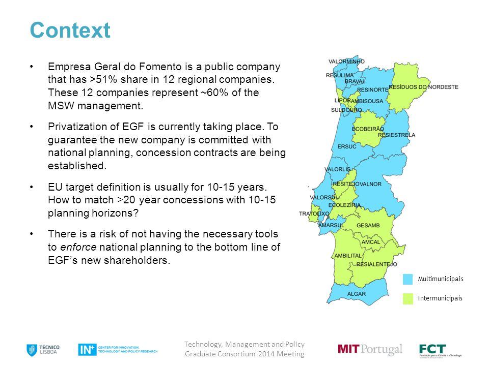 5 Context Empresa Geral do Fomento is a public company that has >51% share in 12 regional companies.