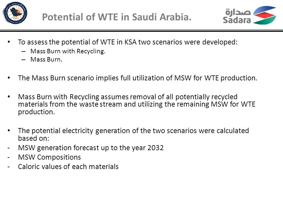 Mass Burn with Recycling Potential of WTE in Saudi Arabia