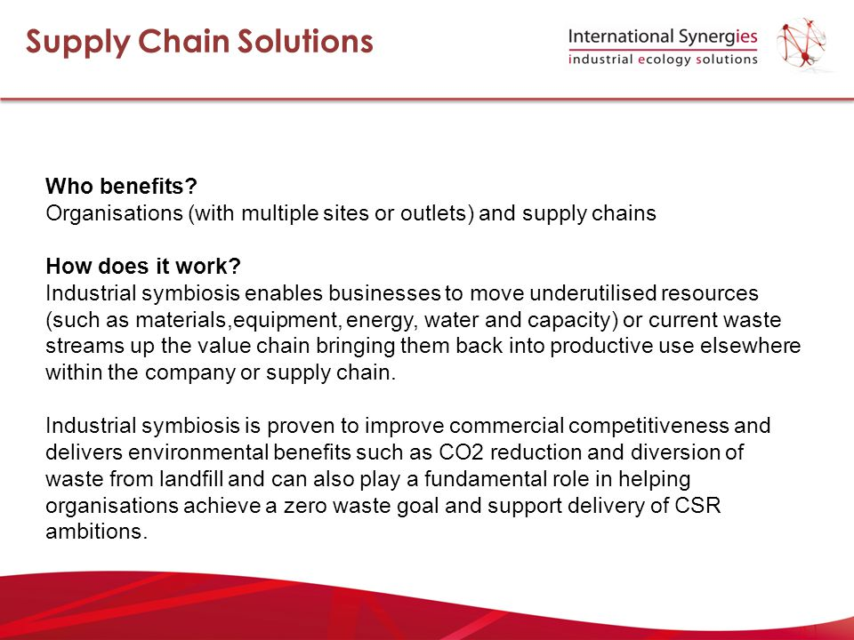 Who benefits. Organisations (with multiple sites or outlets) and supply chains How does it work.