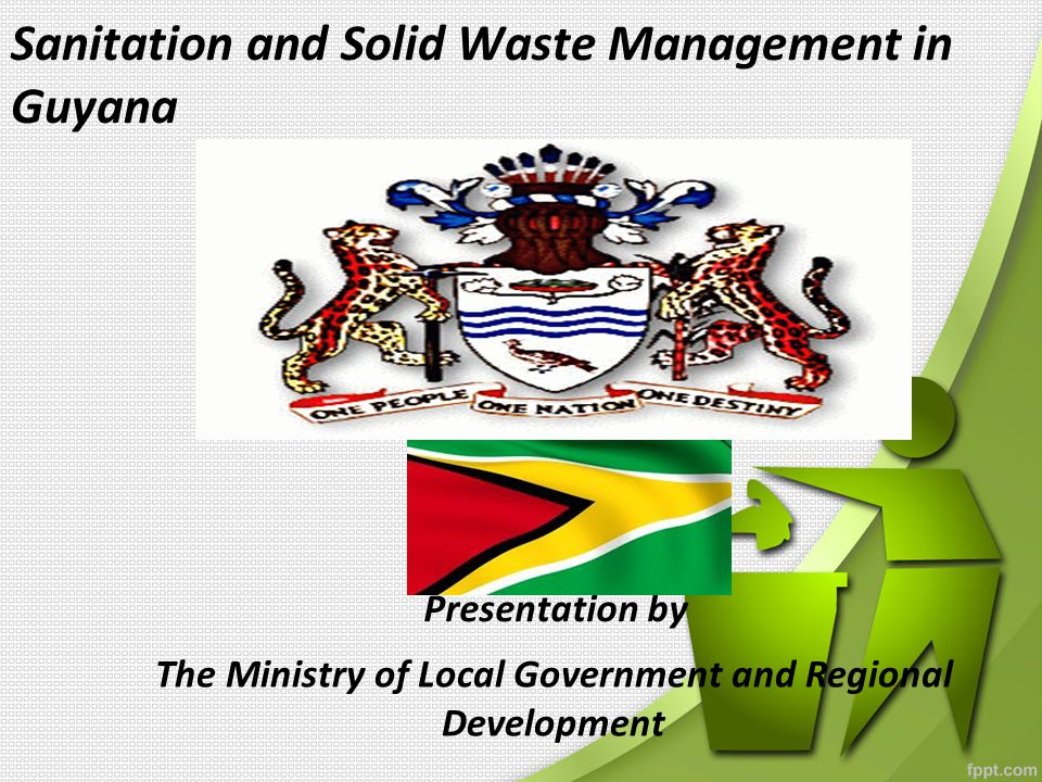 General expectations of the programme * Clean up the urban and rural environments to achieve better quality of life * Introduce an environmentally friendly programme to address the country's waste disposal problems (particularly solid waste) * Create job opportunities (informal sector labourers-pickers) * Increase accessibility to new technologies for solid waste management and/or recycling * Closing all outdated and inefficient solid waste disposal site aka dumpsite