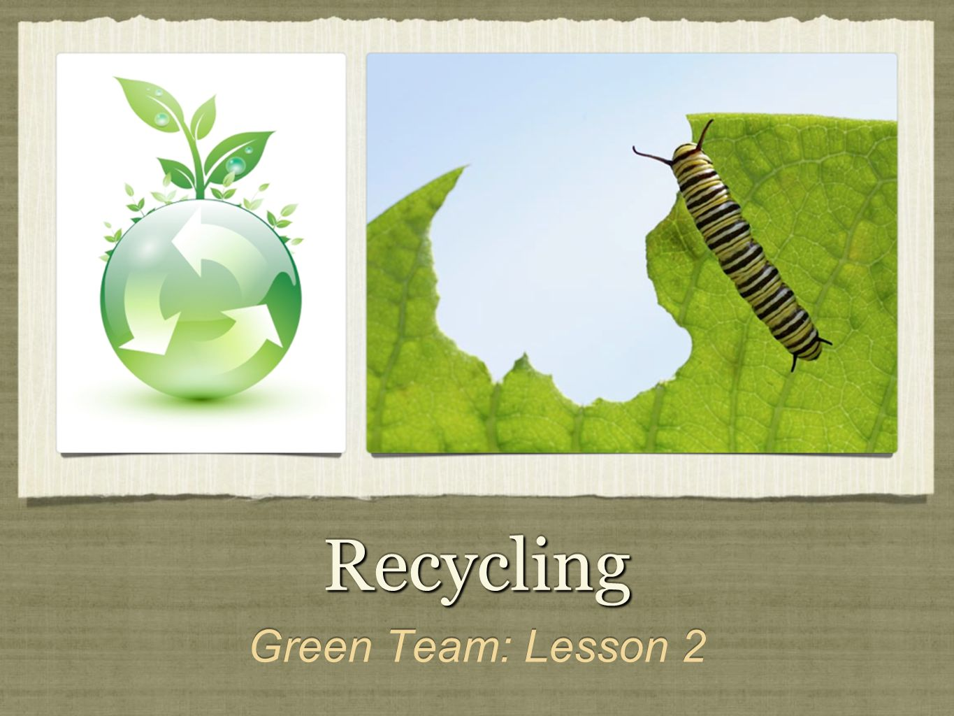 RecyclingRecycling Green Team: Lesson 2