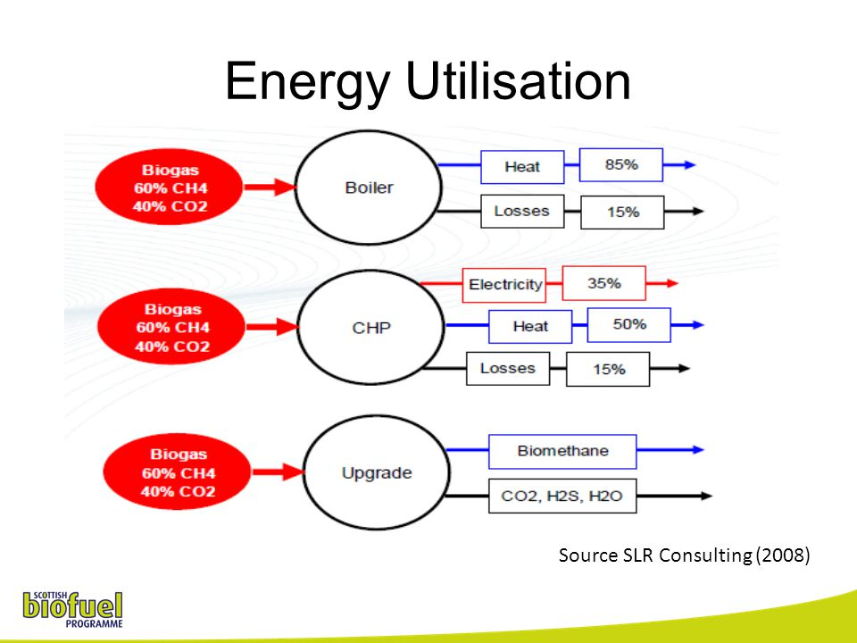 Energy Utilisation Source SLR Consulting (2008)