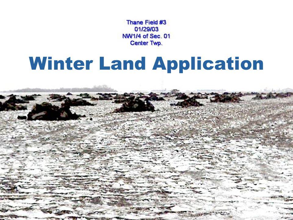 Winter Land Application