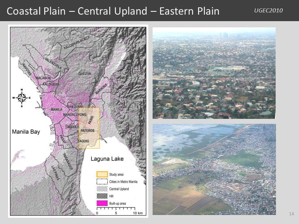 UGEC2010 Coastal Plain – Central Upland – Eastern Plain 14