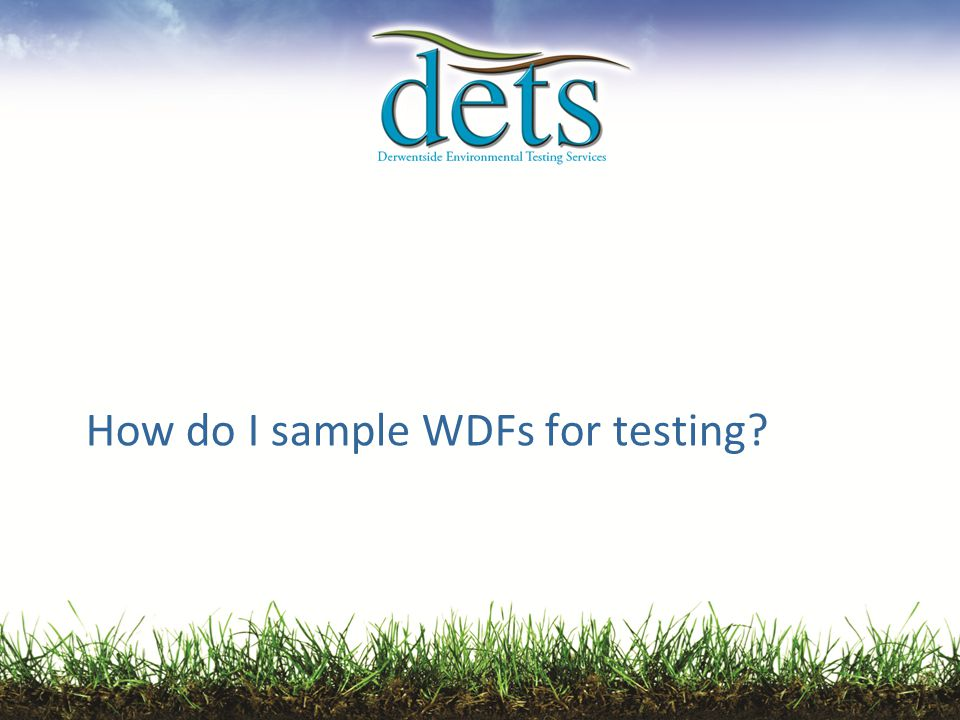 How do I sample WDFs for testing