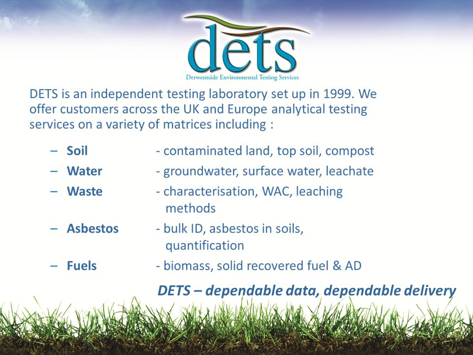 DETS – dependable data, dependable delivery