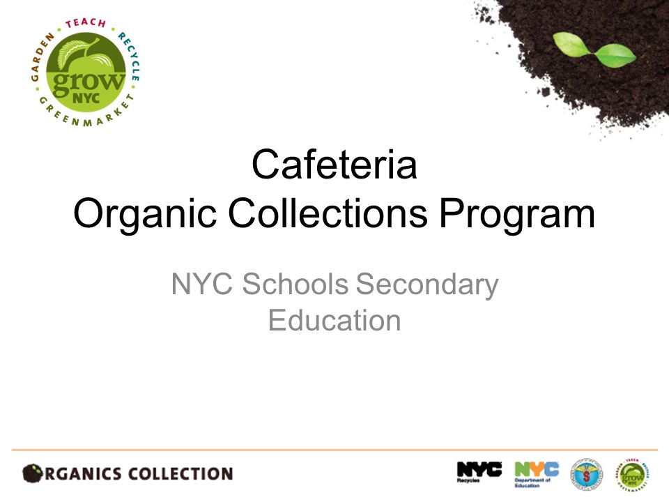 Cafeteria Organic Collections Program NYC Schools Secondary Education