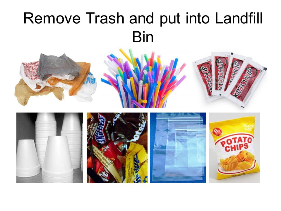 Remove Trash and put into Landfill Bin