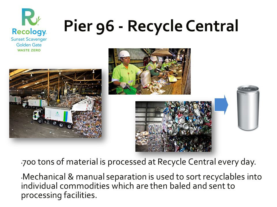 700 tons of material is processed at Recycle Central every day.