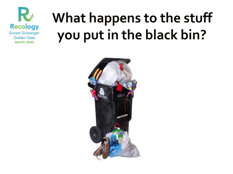 What happens to the stuff you put in the black bin?