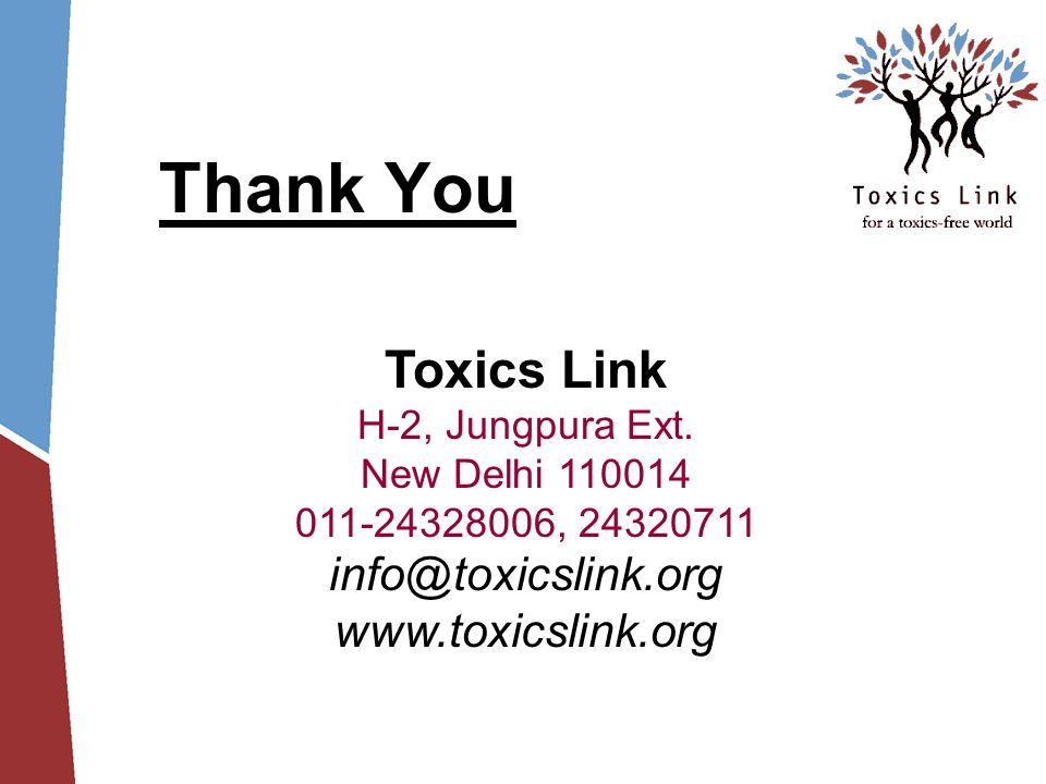 Thank You Toxics Link H-2, Jungpura Ext.