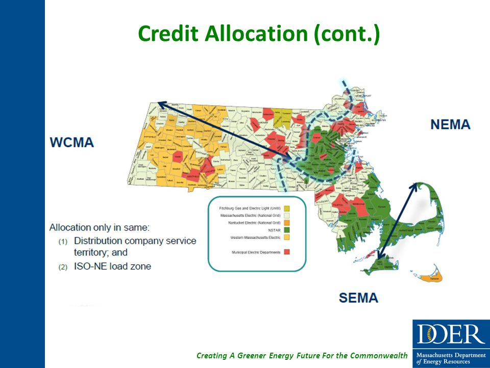 Creating A Greener Energy Future For the Commonwealth Credit Allocation (cont.)