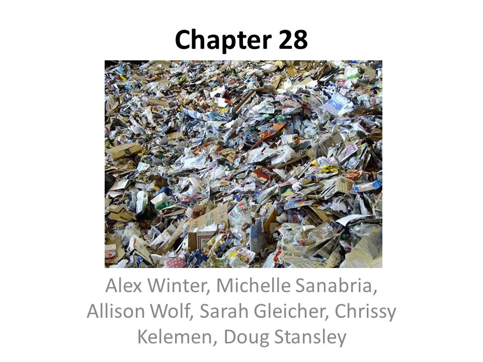 Chapter 28 Alex Winter, Michelle Sanabria, Allison Wolf, Sarah Gleicher, Chrissy Kelemen, Doug Stansley