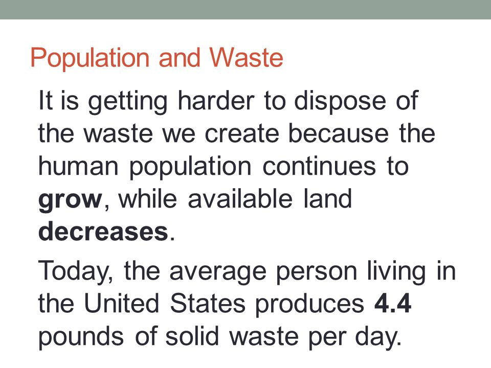 Population and Waste