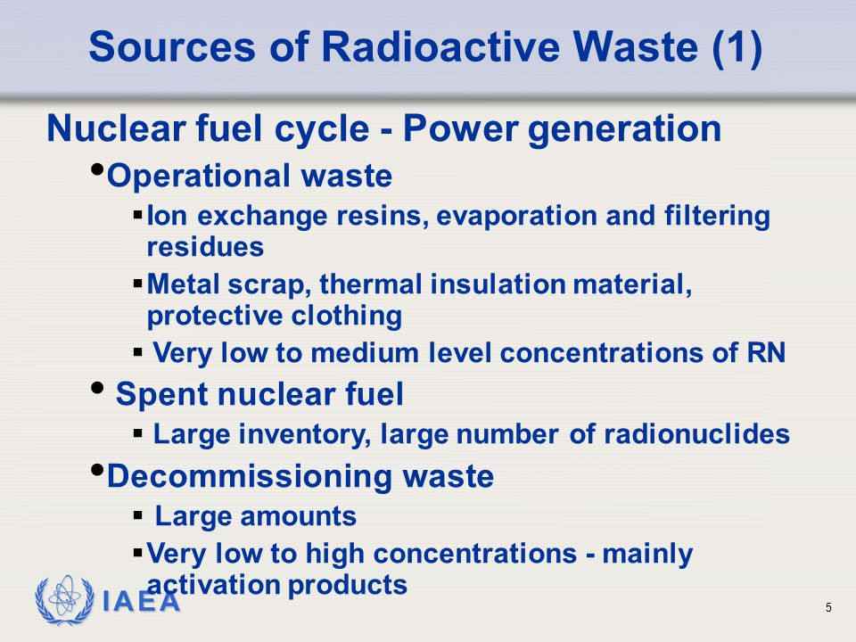 IAEA Classification as Practiced Many member states still use their own system, customized to fit local needs.