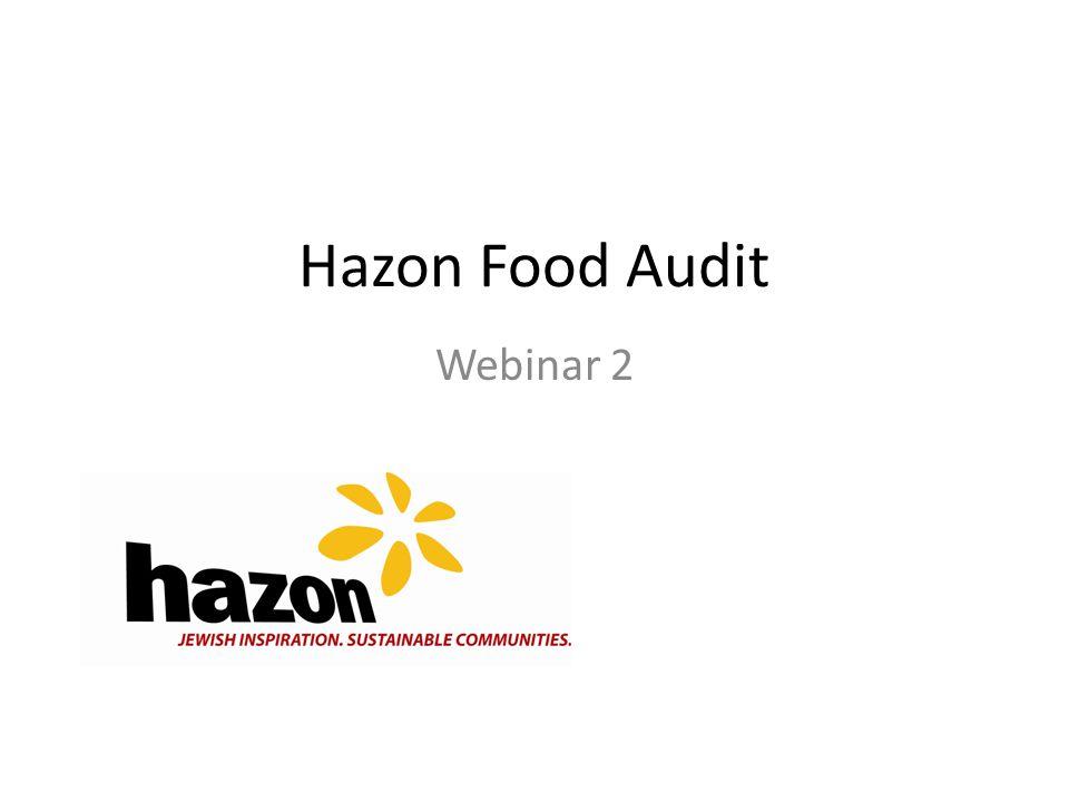 Hazon Food Audit Webinar 2