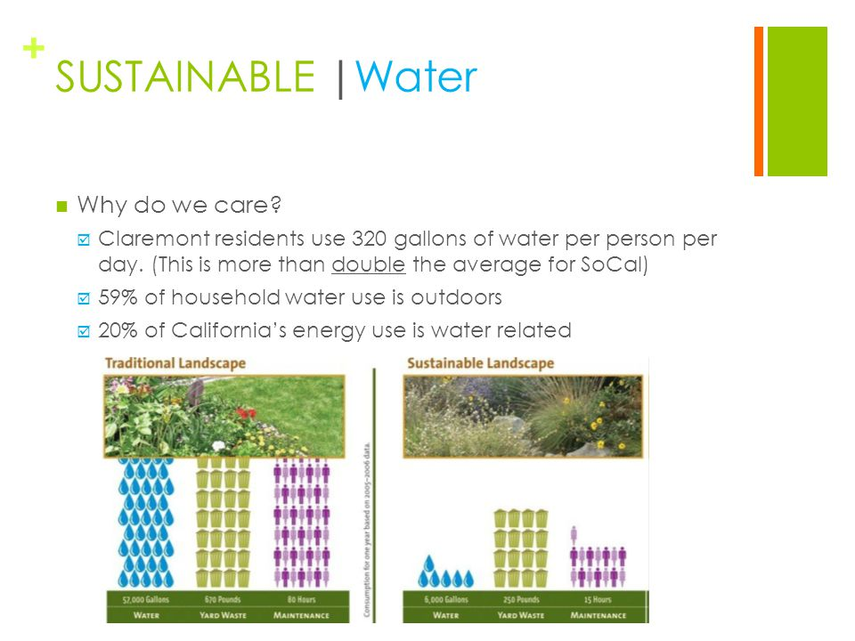 + SUSTAINABLE | Water Why do we care.