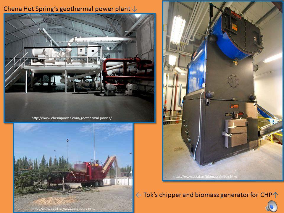 District heating can use diverse heat sources: Coal (UAF campus, Downtown Fairbanks, Fort Wainwright) Biomass Wood (Tok, Mentasta, Fort Yukon, Gulkana