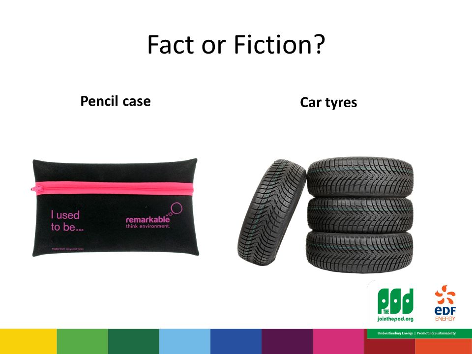 Fact or Fiction Pencil case Car tyres
