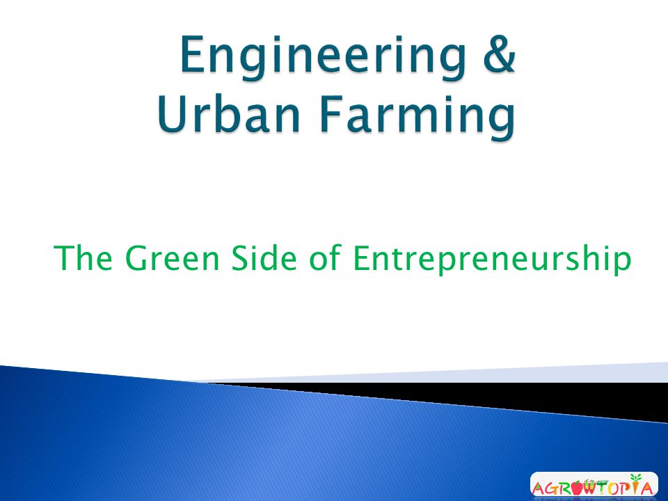 The Green Side of Entrepreneurship