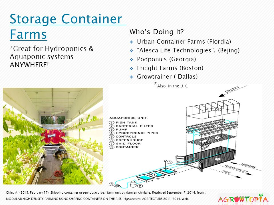 Chin, A. (2013, February 17). Shipping container greenhouse urban farm unit by damien chivialle.
