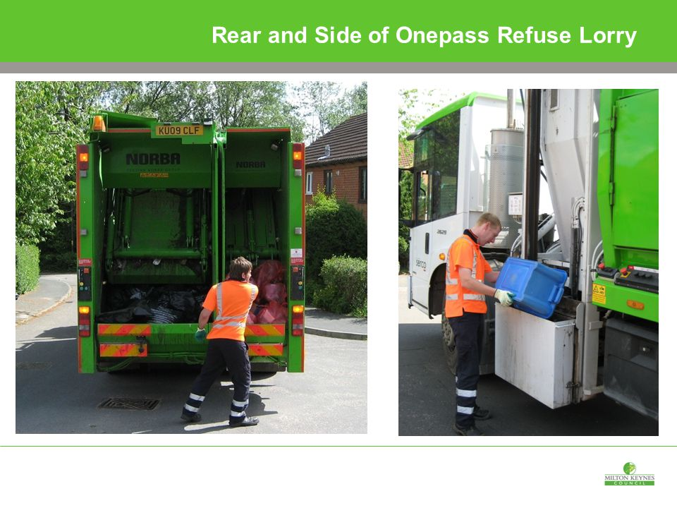 Rear and Side of Onepass Refuse Lorry