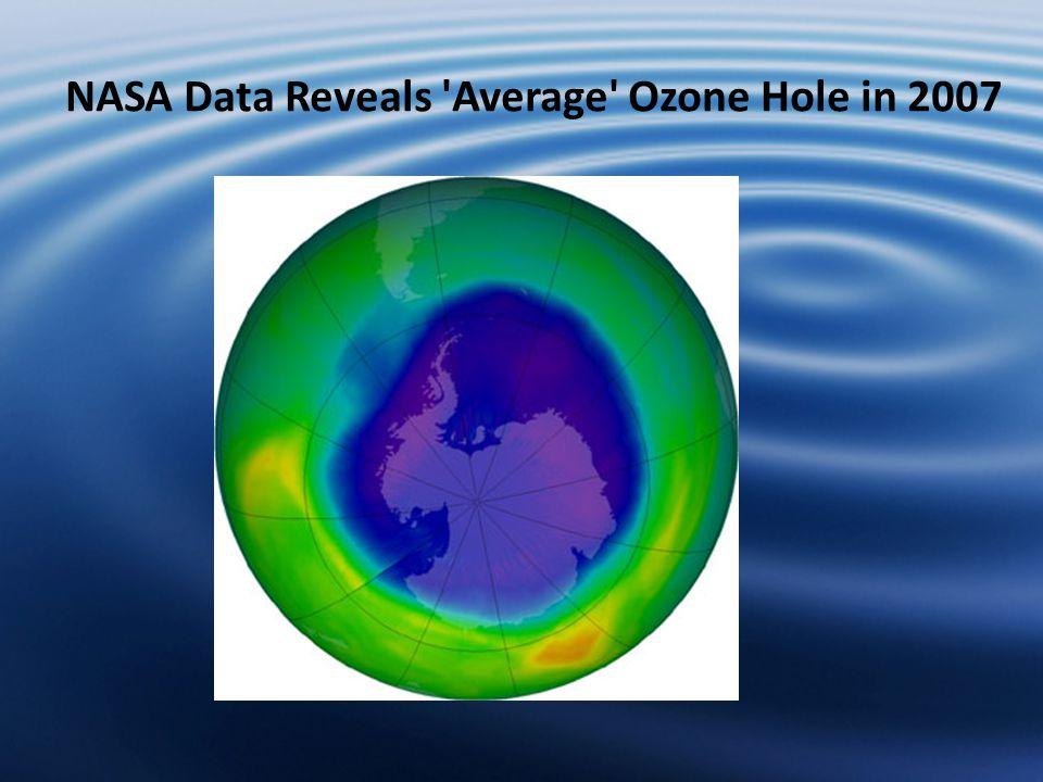 NASA Data Reveals Average Ozone Hole in 2007
