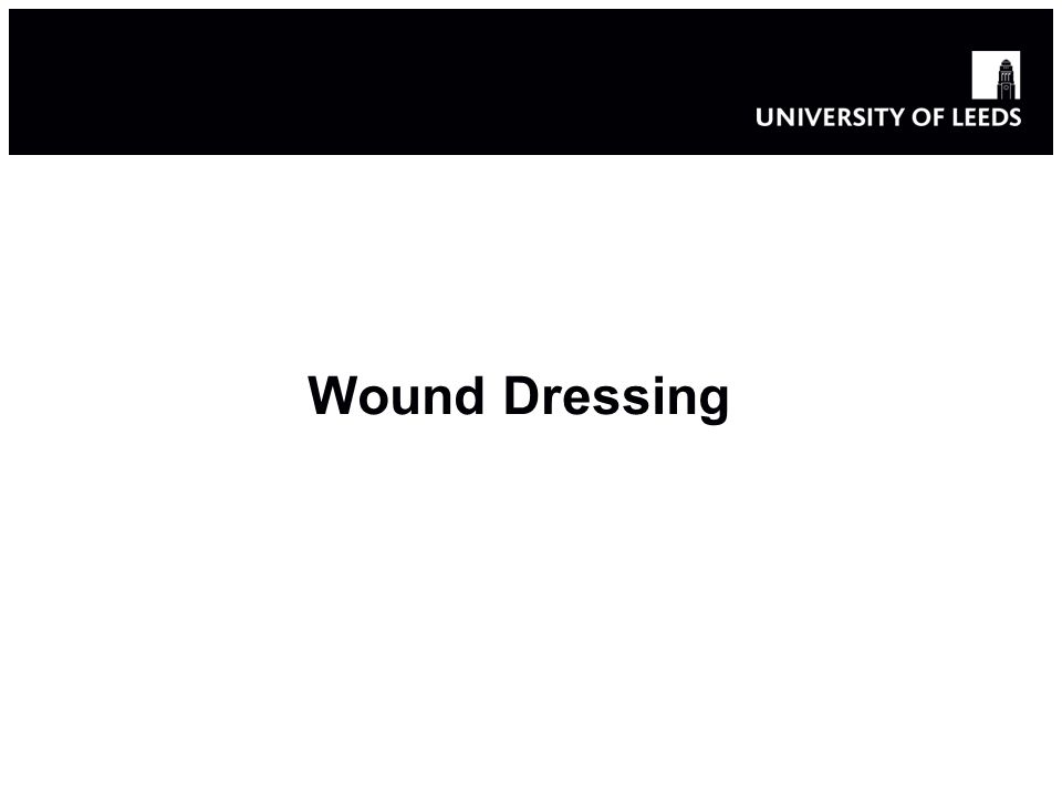 Wound dressing Chronic wounds: 6.5 million people - $25 billion Impaired healing – Inflammation stage is prolonged Resistance to antibiotics Silver impregnated dressings Alternative metals, e.g.
