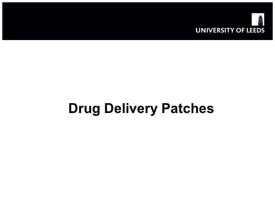 Drug Delivery Patches